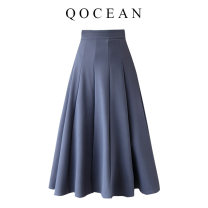 skirt Spring 2020 S,M,L,XL Apricot, blue, black Mid length dress Versatile High waist Umbrella skirt Solid color Type A 18-24 years old 81% (inclusive) - 90% (inclusive) other polyester fiber Splicing