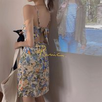 Dress Summer 2021 Picture color L [100-120 Jin], XL [120-135 Jin], 2XL [135-150 Jin], 3XL [150-165 Jin], 4XL [165-180 Jin] Short skirt singleton  Sleeveless commute High waist 18-24 years old Other / other Korean version 31% (inclusive) - 50% (inclusive) other
