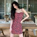 Dress Summer 2021 Raspberry powder L [90-110 Jin], XL [110-125 Jin], 2XL [125-140 Jin], 3XL [140-155 Jin], 4XL [155-170 Jin] Short skirt singleton  Sleeveless commute High waist zipper 18-24 years old Other / other Korean version 31% (inclusive) - 50% (inclusive) other polyester fiber