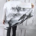National Costume Other / other Average size Landscape painting, perspective black Yunlong, black crane long, Ruihe, perspective white Yunlong, black dragon long, white crane long, black split crane long, white dragon long Hanfu summer leisure time youth 2020 polyester fiber other other printing