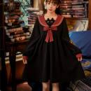 Dress Spring 2021 black S,M,L,XL Mid length dress singleton  Long sleeves bishop sleeve Embroidery