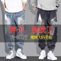 Jeans other Others S [recommended 75-85 Jin], m [recommended 85-95 Jin], l [recommended 95-105 Jin], XL [recommended 105-120 Jin], 2XL [recommended 120-140 Jin], 3XL [recommended 140-158 Jin], 4XL [recommended 158-175 Jin], 5XL [recommended 175-200 Jin] Ninth pants Travel? winter Large size tide