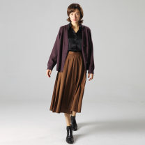 skirt Winter 2020 S,M,L,XL Black spot, Camel Brown Spot, green card, spring and Summer Edition, black spring and Summer Edition A-line skirt Decor evewang