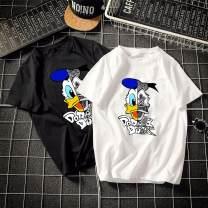 T-shirt Youth fashion White pirate duck, black pirate duck, pink pirate duck, blue pirate duck, yellow pirate duck routine XS (less than 100 kg recommended), s (100-115 recommended), m (115-135 recommended), l (135-150 recommended), XL (150-170 recommended), 2XL (170-200 recommended) Short sleeve
