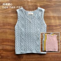 Vest female Yellow, gray, pink The future spring and autumn routine No model Socket leisure time Pure cotton (100% content) Solid color Cotton 100% Class B Chinese Mainland 2, 3, 4, 5, 6, 7, 8, 9, 10 years old