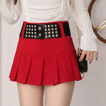 skirt Spring 2020 S,M,L,XL,XXL Black, red Short skirt commute A-line skirt Type A 25-29 years old other Korean version