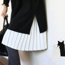 Dress Summer of 2019 White, black Average size longuette singleton  Sleeveless commute Crew neck Solid color Socket Pleated skirt routine 18-24 years old Type A Other / other Korean version 51% (inclusive) - 70% (inclusive) other