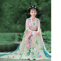 Hanfu 96% and above Summer of 2018 One piece of suspender bra, one piece of large sleeve double breasted top, one piece of 6-meter large swing Tibetan pleated skirt S spot, m spot, l spot, XL spot, s pre-sale, m pre-sale, l pre-sale, XL pre-sale polyester fiber