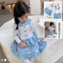 Dress Aisha knitted dress (without cashmere), Aisha knitted dress (with cashmere and thickening) female Other / other 90cm,100cm,110cm,120cm,130cm,140cm Cotton 100% spring and autumn princess Long sleeves Cartoon animation cotton Pleats other