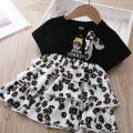 Dress Black, white female Other / other 130cm,120cm,110cm,100cm,90cm,80cm Cotton 60% other 40% summer Britain Skirt / vest other Cotton blended fabric Splicing style 7 years old, 6 years old, 5 years old, 4 years old, 3 years old, 2 years old, 18 months old, 12 months old