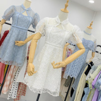 Dress Summer 2020 White, blue S,M,L Short sleeve 18-24 years old