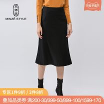 skirt Winter of 2019 M L XL XXL Mid length dress grace Natural waist A-line skirt Solid color Type A 35-39 years old 81% (inclusive) - 90% (inclusive) Wool Minze style / Mingshi Road wool Same model in shopping mall (sold online and offline)