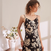 Dress Summer 2021 printing S,M,L,XL Mid length dress singleton  Sleeveless commute V-neck Loose waist Socket camisole Type H The magic magician of Oz Simplicity LSQ001944 More than 95% other Cellulose acetate