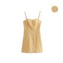 Dress Summer of 2019 Plaid pattern S,M,L singleton  camisole