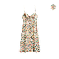 Dress Spring 2020 Decor S,M,L Mid length dress singleton  Sleeveless commute High waist Decor A-line skirt camisole Type A Retro bow 51% (inclusive) - 70% (inclusive) other