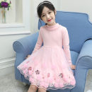 Dress female Other / other 110 is suitable for 100cm, 120 is suitable for 110cm, 130 is suitable for 120cm, 140 is suitable for 130cm, 150 is suitable for 140cm, 160 is suitable for 150cm Cotton 95% other 5% No season Korean version Long sleeves Solid color cotton A-line skirt s510 Class B