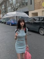 Fashion suit Spring 2021 S, M Grey, baby blue 18-25 years old SS0288