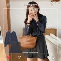 Fashion suit Autumn 2020 S,M,L,XL Apricot skirt, grey skirt, plaid shirt 18-25 years old 71% (inclusive) - 80% (inclusive)