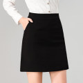 skirt Spring 2021 S,M,L,XL,2XL,3XL Short skirt commute High waist A-line skirt Solid color Type A 25-29 years old KB82520 31% (inclusive) - 50% (inclusive) other polyester fiber Pocket, zipper Ol style