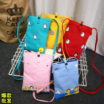 Bag The single shoulder bag canvas other Yilinbao Light blue snow mountain red fried chicken pink date lucky yellow fantasy lake blue spring outing brand new Sweet Lady  Small leisure time soft yes Cartoon animation Single root One shoulder cross nothing youth Vertical square printing Soft handle