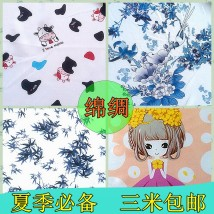 Fabric / fabric / handmade DIY fabric blending Loose shear piece Cartoon animation printing and dyeing bedding article Chinese style