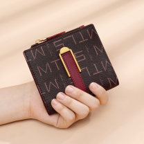 wallet Short Wallet PVC Matras / matras brand new Europe and America female Buckles written words 80% off Erect funds youth Large banknote holder, photo slot, change slot letter Autumn 2020 Pure e-commerce (online only)