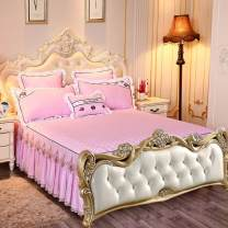 Bed skirt polyester fiber Sunfish and geese - bean paste (European style), sunfish and geese - Pink (European style), sunfish and geese - Beige (European style), sunfish and geese - light gray (European style), sunfish and geese - light green (European style) Other / other Solid color First Grade