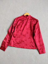 shirt Dark red as shown in the picture 40,36,38,42 silk 96% and above
