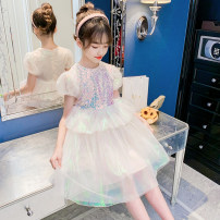 Dress Pink, lake blue female Other / other 110cm,120cm,130cm,140cm,150cm,160cm Other 100% summer Korean version Short sleeve Solid color other Princess Dress Class B 8, 3, 6, 13, 11, 5, 4, 10, 9, 12, 7 Chinese Mainland Zhejiang Province Huzhou City
