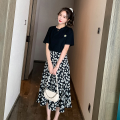 Women's large Spring 2021 Black top, short skirt, long skirt Big XL [quality assurance], big 2XL [quality assurance], big 3XL [quality assurance], big 4XL [quality assurance], big 5XL [quality assurance], big l [quality assurance] Other oversize styles Two piece set commute easy moderate Socket other