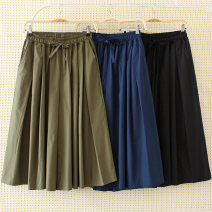 Casual pants Black, Navy, army green XL,2XL,3XL Spring 2020 Ninth pants Wide leg pants High waist Versatile routine 30-34 years old 51% (inclusive) - 70% (inclusive) 1236-035 Other / other hemp pocket