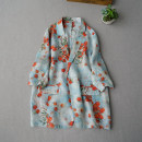 short coat Spring 2021 Average size Persimmon printing three quarter sleeve routine routine 96% and above
