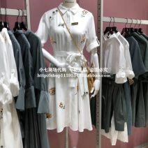 Dress Autumn of 2019 This is white 155/76A/XS,160/80A/S,165/84A/M,170/88A/L,175/92A/XL Vero Moda 31937C516S85