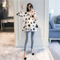 T-shirt V-neck M,L,XL,XXL Other / other One piece Polka Dot top 5 / 7 sleeves summer Korean version have cash less than that is registered in the accounts Dot routine