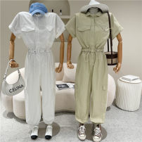 Jumpsuit / pants 51% (inclusive) - 70% (inclusive) trousers other High waist White, light green, black Average size Summer 2021