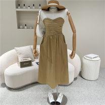 Dress Summer 2021 White, black, khaki Average size 18-24 years old 51% (inclusive) - 70% (inclusive)