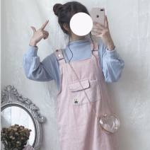 Other suits Spring of 2019 White top, blue top, Dousha powder top, pink suspender skirt, blue suspender skirt, XXXs pre-sale Average size Other / other