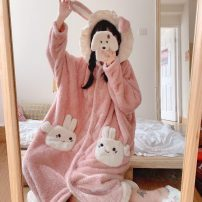 Nightdress Other / other Picture color One size fits all, XXS pre-sale Cartoon Long sleeves Leisure home longuette winter youth Hood
