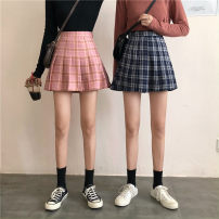 skirt Spring 2021 S. M, l, XXXs pre-sale Brown with lining, royal blue with lining, pink with lining Short skirt commute High waist other other Type A 18-24 years old 30% and below other Other / other other Korean version