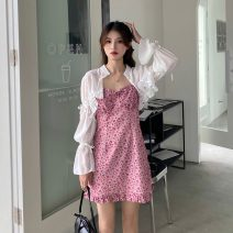 Fashion suit Summer 2021 Average size Cardigan, suspender skirt 18-25 years old 30% and below