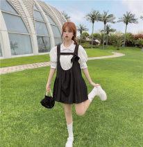 Fashion suit Summer 2021 Average size Pleated back skirt, pocket shirt