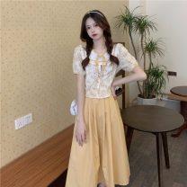 Fashion suit Summer 2021 Average size Black shirt , Yellow shirt , Black skirt , Yellow skirt 18-25 years old 30% and below
