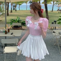 Fashion suit Summer 2021 Average size Light blue, white, pink, skirt 18-25 years old 30% and below
