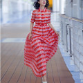 Dress / evening wear Wedding, adulthood, party, company annual meeting, performance, routine, appointment S,M,L,XL Red, blue fashion longuette middle-waisted Spring 2021 A-line skirt silk floss Decor Coos / Guxi other other