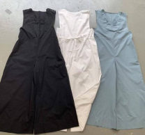 Dress Summer of 2019 Black, white, light blue Average size longuette Sleeveless Sweet More than 95% cotton