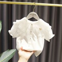 T-shirt White, long sleeve white shirt, half size smaller Other / other 80cm,90cm,100cm,110cm,120cm,130cm female summer elbow sleeve other Solid color 2 years old