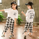 suit Ha Liao ha Liao white 160cm,150cm,140cm,130cm,120cm,110cm female summer leisure time Short sleeve + pants 2 pieces routine There are models in the real shooting Socket nothing Cartoon animation cotton children Learning reward Class B Cotton 75% other 25% Chinese Mainland