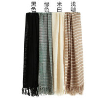 Scarf / silk scarf / Shawl other Black, green, off white, purple, gray, light coffee, light pink, deep pink, light khaki winter female Scarves / scarves keep warm lattice 52cm 194cm