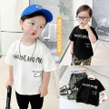 T-shirt Cloud white, classic black, x2664 black Capris, x2685 camouflage pants, x2664 grey Capris Small die 80CM,90CM,100CM,110CM,120CM,130CM,140CM male summer Short sleeve Crew neck leisure time There are models in the real shooting nothing Cotton blended fabric other X2637 other