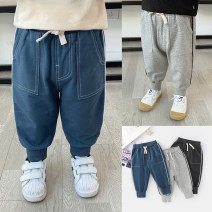 trousers Small die male 80cm,90cm,100cm,110cm,120cm,130cm spring and autumn trousers leisure time There are models in the real shooting Leggings Leather belt middle-waisted Cotton blended fabric Open crotch Cotton 100% 18 months, 2 years old, 3 years old, 4 years old, 5 years old, 6 years old